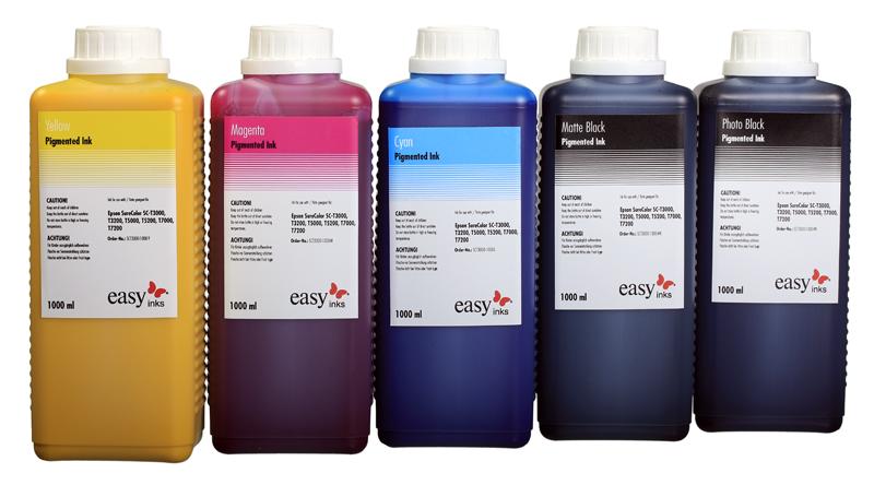 Epson SureColor SC-T3000,T3200,T5000,T5200,T7000,T7200 compatible  Ultrachrome XD ink, 1 Liter bottle